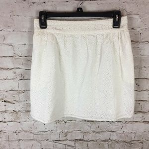 Women's Pins and Needles Ivory Eyelet Skirt M